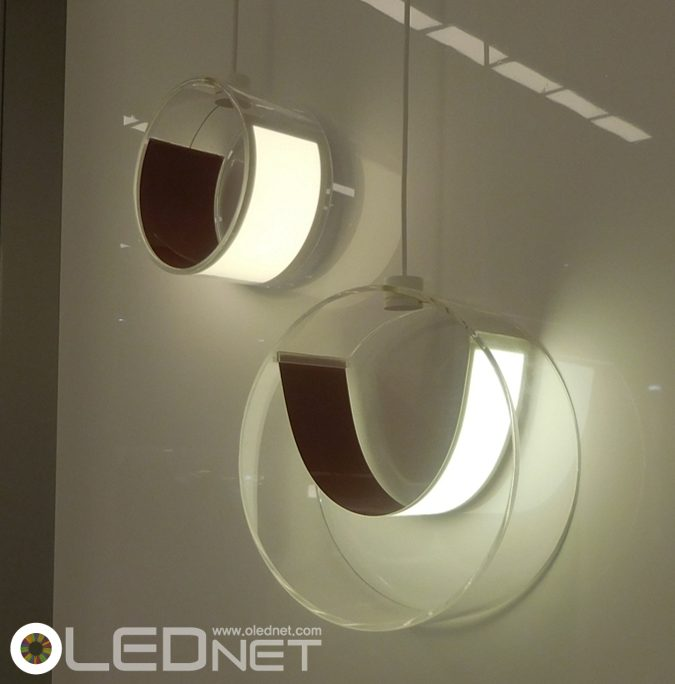LG Chem.'s Flexible OLED Lighting, Euroluce 2015