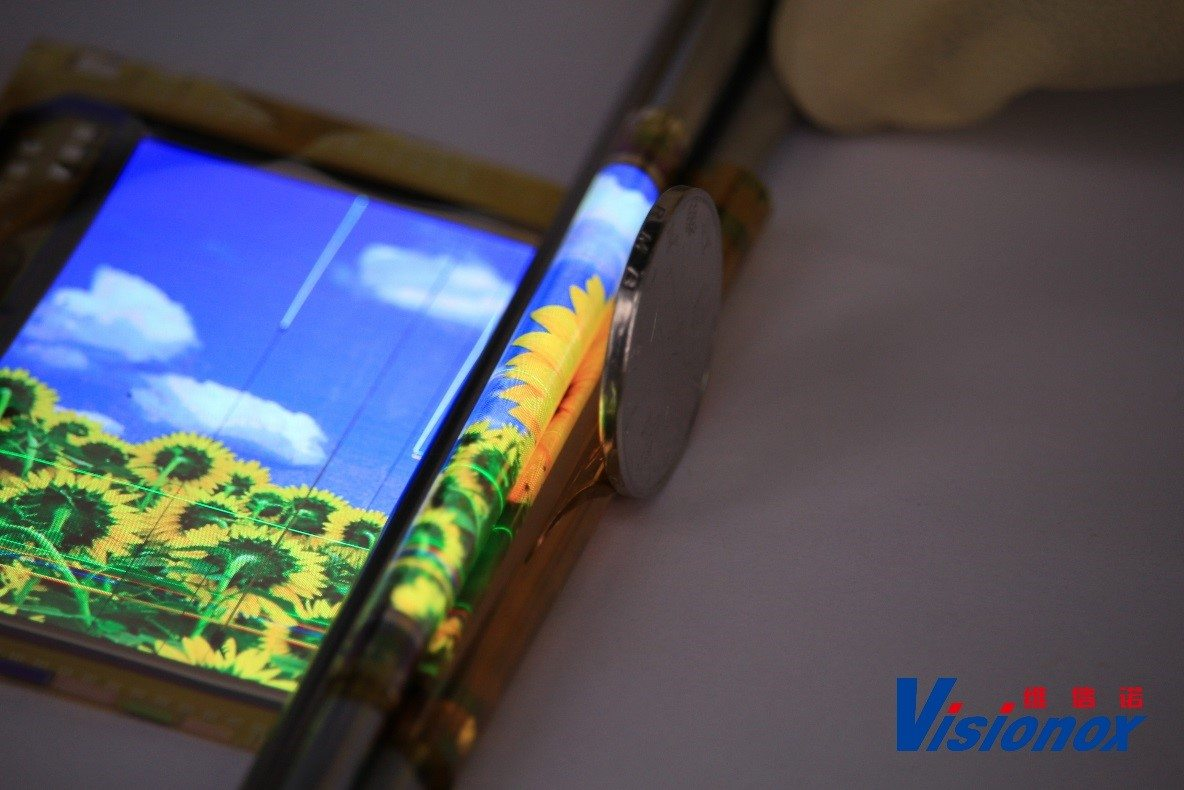 Visionox의 flexible AMOLED panel, Source : Visionox
