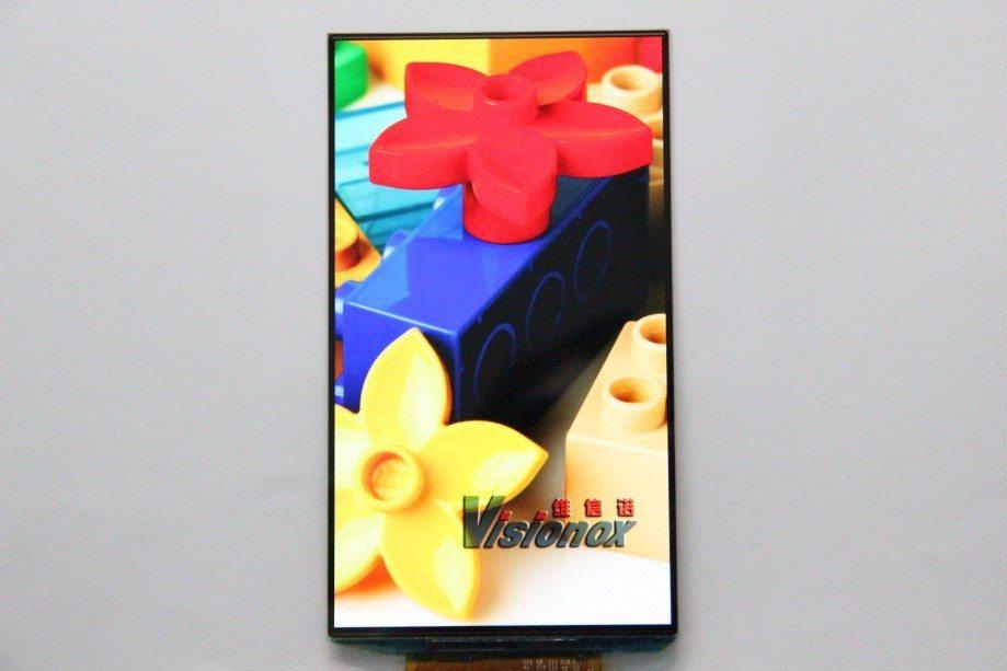 5.5inch AMOLED 디스플레이 패널, Source : Visionox