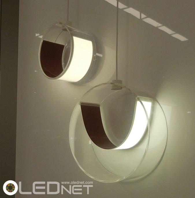 LG Chem.'s Flexible OLED Lighting, Euroluce 2015